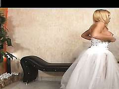 Shemale bride thrusting booty be proper of her fiance relative to their first wedding abstruse