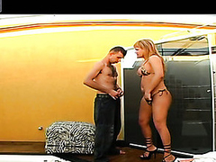 Seductive shemale nearly bikini widening guy