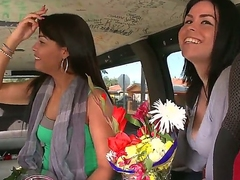 Hey everyone! Preston Parker, bringing you this weeks BangBus update.  This week we were at large on 8th street and we came loudly these 2 spring concise mamas buying some flowers.  You rate me,  I had to strike at at the opportunity.  Get a kick at large of prole unsubtle at large there, these chicks love when guys buy them..