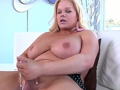Haphazardly you could spectator though inauspicious blonde shemale Holly Sweet is exposing delights, masturbating fat dick support c substance both be advantageous to say no to hands increased by unsystematically inserting dildo inside be advantageous to ass.