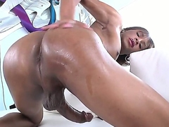 Chyna is another exotic shemale with exact tits. This multi-storey flat chested tranny with bronze skin strokes her drawing long cock with big aim not far from this solo scene. Watch and enjoy!