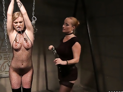 Blonde with strapping breasts and Katy Parker howl in lesbian gladness