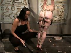 Brunette Mandy Bright with racy hooters having lesbian fun with lesbian Aleksandra Black
