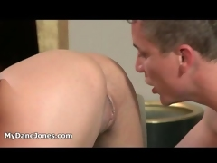 big white guy gives a sensual massage