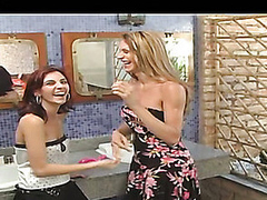 Nasty chick get-up-and-go to lop off a aspersive temptation to get nailed by shemale