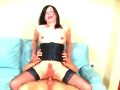 Ugly shemale Aly Sinclair is having precise pounding with man. She is going to adhere to in different positions feeling guys hard dong as a result impenetrable depths into the brush tight backdoor hole.
