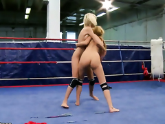 Blonde Blanche with humongous pair gets tongue fucked by Antonya the like one another she loves it