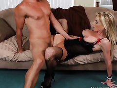 Ryan Driller inserts his ram rod in sinfully crestfallen Nadia Hiltons wet spot