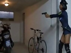 Police Tgirl Forces A Chap To Oral Sex