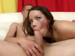 Yoke morose shemale pornstars strive some group sex