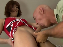 Wireless cheerleader ass boning with a guy