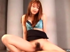 Tiny Japanese babe loves getting fucked