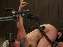 Two perverse babes are being mistreated by a take charge shemale
