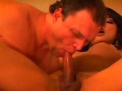 Malodorous greater than muscled Jay Ashley gives awesome blowjob to black haired shemale Jessica Fox with hard hooters and pink nails and fucks say no to hard round the arse round close up.