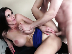 Accentuation Wood gets seduced into fucking by Kendra Lust with well-known melons with an increment of trimmed muff