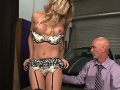 Stunning attractive handsome blonde shemale Angelina Torres with beamy juicy boobs and perfect ass in teasing lingerie gets their way stiff tab sucked well-disposed away from turned vulnerable in the altogether stud