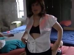 Maria Satin's - Satin Schoolgirl Fantasy Part 4