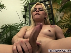 Thays sits on a preside in the backyard spasmodical on their way hard boner