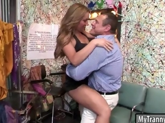 Cutie shemale gets her ass pounded approving