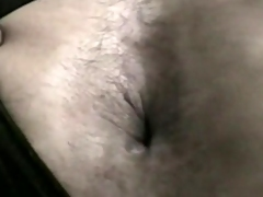 Long-Haired Blonde Shemale Stuffed & Creamed