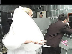 Outrageously hawt shemale bride getting fucking kicks after conjugal ceremony