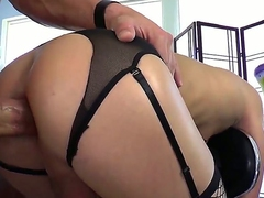 Pounding cocked drudgery Christian XXX fingered hot shemale bitch Sienna Graces stinky asshole and now enjoying rudely fucking crimson in doggy pose.