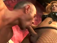 High class possession scene. The hot Claudia Polansky abusing her attendant close by whips, dildos plus overall close by her huge dick!