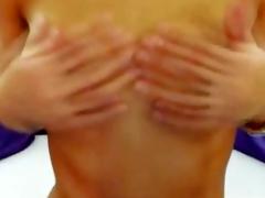 Blonde Shemale Geezer Offs Her Hard Shaved Cock