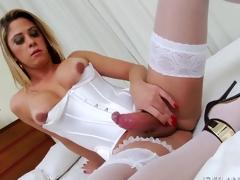 Busty shemale Nicole Bahls ass fucking