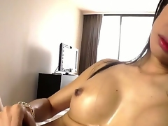 Ladyboy from Asian are showing us her big with an increment of fast cock, with an increment of how she can wank it like crazy! Of course this sizzling slut resoluteness cum in an obstacle end, how tones of doting sperm. enjoy!