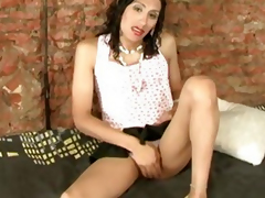 Wasting away latin shemale slut fucked